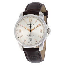 Certina DS Podium Automatic Silver Dial Genuine Brown Leather Mens Watch