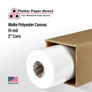 "44"" x 40' Matte Polyester Inkjet Canvas Roll for Wide Format Inkjet Printers"