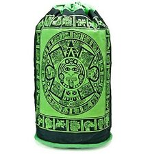 Green Aztec Calendar Backpack Tote Bag Wiccan Pagan Altar Supply #55