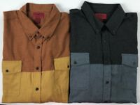 Men's Foundry YOUNG MEN'S Big & Tall Button Front Long Sleeve Flannel Shirt
