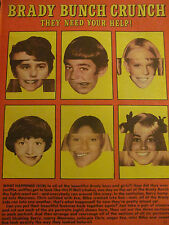 The Brady Bunch, Full Page Vintage Clipping, Maureen McCormick, Eve Plumb