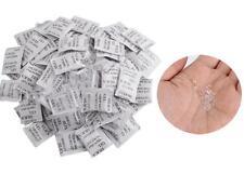 100 Bags Silica Gel Non-Toxic Desiccant Moisture Absorber Dehumidifier 1G / bag