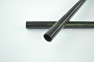 Plain Glossy Roll Wrapped 14mm OD X 12mm ID X 500MM 3k Carbon Fiber Tube/Pipes