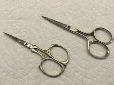 Pair Of Vintage German Sewing Scissors. Marks, Solingen And P&L Co?