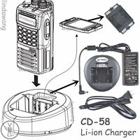 CD-58 Rapid Battery Charger for Vertex Standad VX-451 VX454 VX459 Portable Radio