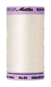 Mettler Silk Finish Cotton Thread 2-ply 50wt 190d 500 meter 547 yard spools P2