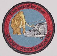 "Aufnäher Patch Fregatte ""Bremen"" F207 BOST 2002 Sea Lynx MFG 3 ........A4331"