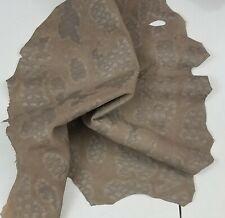Grayish Brown Turtle Print Suede Goat Skin Leather Hide 3 sf Crafts Handbag