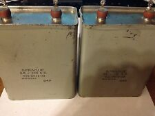 Pair of Used Vintage Sprague Can Capacitors 950-0471-00,  8.0 - 330 AC - VGC