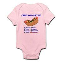CafePress Chicago Style Hotdog Body Suit Baby Bodysuit (1215389363)