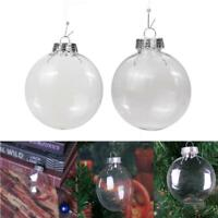 Plastic Clear Bauble Ball Pendant Christmas Tree Hanging Ornament Decoration DIY