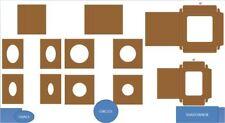 Heartfelt Creations Accessory ~ LAYERED & SHADOWBOX CARDS - KRAFT - BUNDLE 456-3