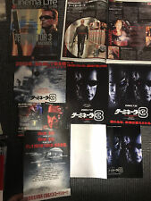 TERMINATOR 3 Rise of the Machines Japan flyer mini-poster/magazine x5 ARNIE!
