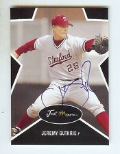JEREMY GUTHRIE Royals 2003 Stanford *BLACK* Certified #'d AUTOGRAPH RC xx/25