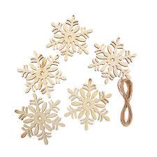 10 x Corte Láser Madera Navidad COPO DE NIEVE,Etiquetas Decoración Boda Adorno