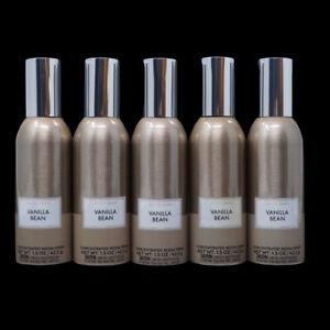 5X Bath and Body Works VANILLA BEAN Home Fragrance Room Perfume Spray 1.5 oz