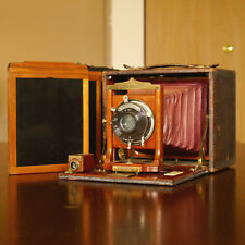 :Ray Camera Co. Rochester No.4 4x5 Folding Camera w/ 3 Film Holders