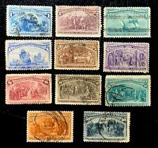 1893 US Stamps SC#230-240 1c to 50c Columbian Exposition Short Set CV:$411