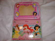 DISNEY Princess Learning To Draw With Friends Book + Magnetic Drawing Pad / Pen