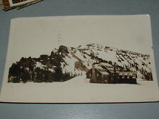 1921, Medford Or Real Photo Postcard, Crater Lake Lodge, Mt Hood in snow