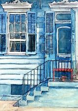 """SIGNED Hand Painted Art FRENCH QUARTER and JACKSON SQUARE, NOLA """"Creole Cottage"""""""