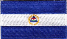 NICARAGUA FLAG/Iron On Embroidered Applique Patch /Flag of Nicaragua