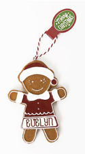 Gingerbread Christmas Tree Hanging Decorations Evelyn
