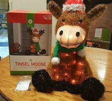 Christmas decor' Christmas Moose Pre-Lit Lighted Sculpture New