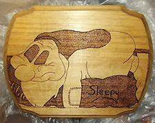 HANDCRAFTED Snow white seven dwarves SLEEPY woodburning etching OOAK