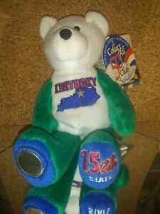 Limited Treasures 50 States of America Coin Bears Kentucky 15th Beanie Bear BB