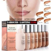 LULAA 35ml Foundation Soft Matte Long Wear Oil Control Liquid Concealer Cream FA