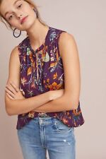 NWT Anthropologie Palawan Top Floral Blouse Size XS