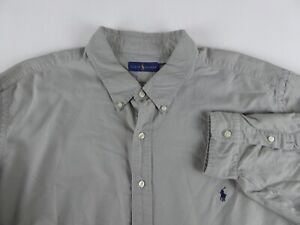 Polo Ralph Lauren Long Sleeve 100% Cotton Solid Sport Shirt NWT w/ Pony $98-$110