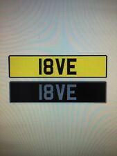 cherished number plates 18VE Look Love Barn Find Bargain