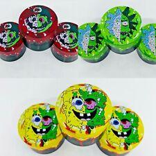 More details for sponge bob mario rick morty metal 4 part 50mm grinder shredder free raw tip!