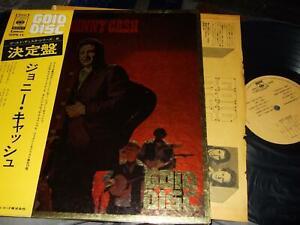 JOHNNY CASH : GOLD DISC ORIGINAL LP CBS/SONY SOPN 14 JAPAN +OBI+BOOKLET