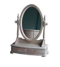 French Provincial  Wash White Dressing Unit with Mirror