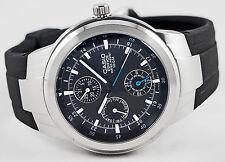 Casio EF-305-1AV EDIFICE Mens Analog Watch 100M WR 3 Circles Sport Resin New