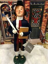 Byers Choice Thomas Jefferson w/ Book & Quill 2016 Signed J Byers w/ Hang Tag
