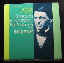 A. MacLeish, R.W. Emerson - Essay On Education And Self-Reliance LP VG+ TC 1358