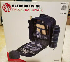 Outdoor Living Picnic Backpack 32 Piece Insulated - 4 Person (Unused)
