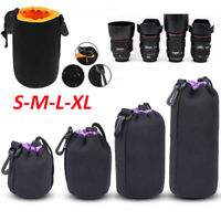 S-XL Waterproof Lens Pouch Bag Protective Case for Digital SLR Camera DSLR Canon