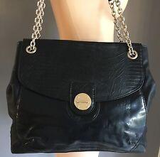 Stylish DIANA FERRARI Black Vegan Leather Tote Shopper Bag