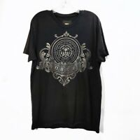 Obey Black Graphic Short Sleeve Tshirt Tee Metallic Logo Crew Neck Mens Sz M