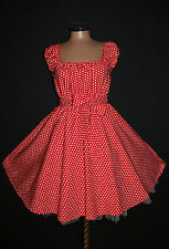 Gr 54 56 58 Damen ROCKABILLY 50er Petticoat Pin Up Party Vintage KLEID Halloween