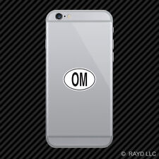 OM Oman Country Code Oval Cell Phone Sticker Mobile Omani euro