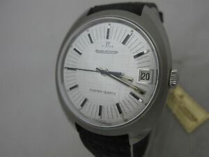 NOS NEW BIG SWISS MADE MASTER QUARTZ JAEGER LE COULTRE MENS ANALOG WATCH 1980'S