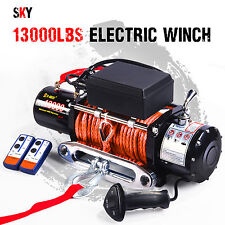 12V Wireless Synthetic Orange Rope 13000LBS/5897KGS Electric Winch 4WD 4x4 Boat
