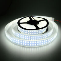 5M 3528 SMD Cool White 1200LEDs Waterproof IP66 Tube LED Strip Light Double Row