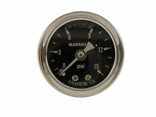 Liquid Filled Oil Pressure Gauge 0-15 psi - BLACK face -Harley Davidson